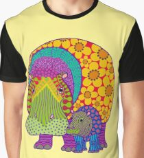 Hippiepotamus and Baba Graphic T-Shirt