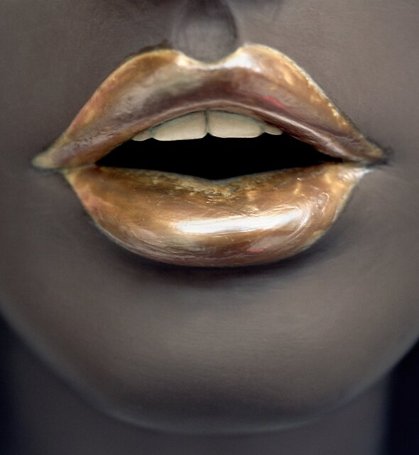 Gold Lips by californiagirl