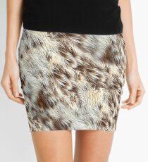 Animal Fur-Look Image Mini Skirt