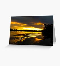 Sunset in the Amazon Greeting Card