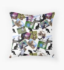 Collage of  Cat Photographs  Throw Pillow