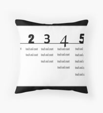 Kiddies counting Throw Pillow