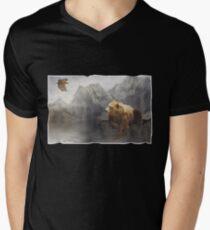 Eaglebear Mtn. Mens V-Neck T-Shirt