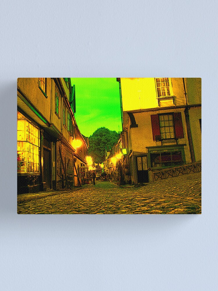 Alternate view of Neon Elm Hill Canvas Print