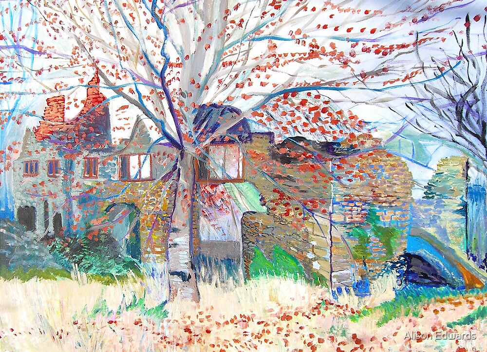 abandoned house in Mells by Alison Edwards