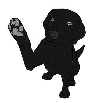 Give me Paw - - Black Lab  by rmcbuckeye