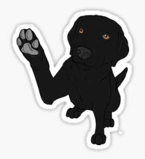 Give me Paw - - Black Lab  Sticker