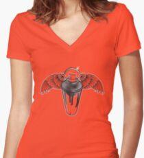 Angel Spray Women's Fitted V-Neck T-Shirt