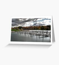 Cheboygan Docks  Greeting Card