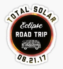 Total Solar Eclipse Road Trip 8.21.17 Funny Novelty T-Shirt Sticker