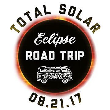 Total Solar Eclipse Road Trip 8.21.17 Funny Novelty T-Shirt by arnaldog