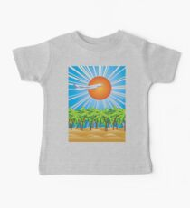 Airplane fly over tropical island 2 Baby Tee