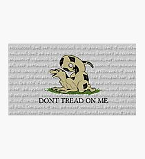 Don't Tread Gadsden Snake Anthro Quote Photographic Print