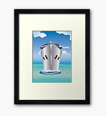 Cruise Liner in the Sea Framed Print