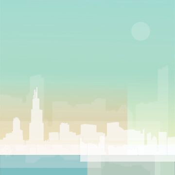 Chicago Skyline Wash by rayres29