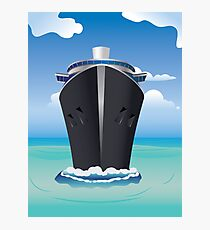 Cruise Liner in the Sea 2 Photographic Print
