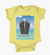 Cruise Liner in the Sea 2 One Piece - Short Sleeve