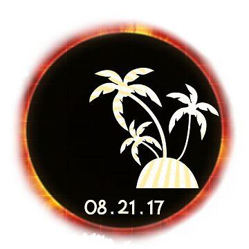 Total Solar Eclipse August 21st 2017 Cool Summer T-Shirt by arnaldog