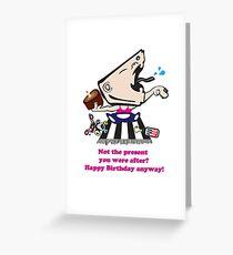 little yobbo AFL football supporter Greeting Card