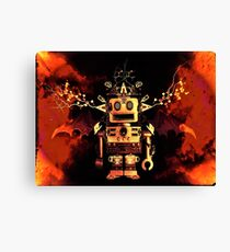 Robot Fire Canvas Print