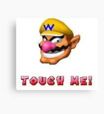Wario Touch Me ! Canvas Print