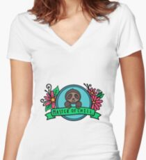 Master of Chill Women's Fitted V-Neck T-Shirt