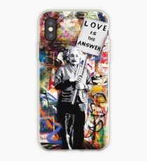 Banksy Albert Einstein Love Is The Answer Graffiti Vibe iPhone Case