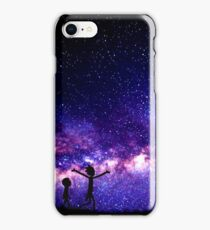 Rick And Morty (Galaxy Purple) iPhone Case/Skin