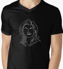 Thirteenth Doctor - Jodie Whittaker (White) Men's V-Neck T-Shirt