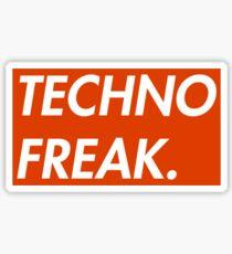TECHNO FREAK (RED) Sticker