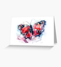 Butterfly painted in watercolors Greeting Card