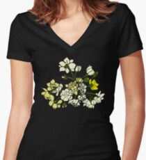 Bunch of Daffodils Women's Fitted V-Neck T-Shirt