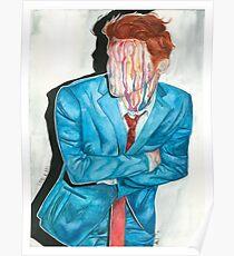 gerard way drip portrait Poster