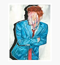 gerard way drip portrait Photographic Print