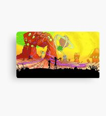 Rick and Morty ( World) Canvas Print
