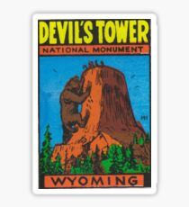 Devil's Tower National Monument Wyoming USA - Bear Lodge Mountains Sticker