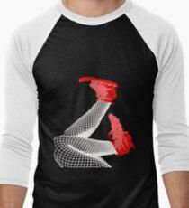 Red Falling Men's Baseball ¾ T-Shirt
