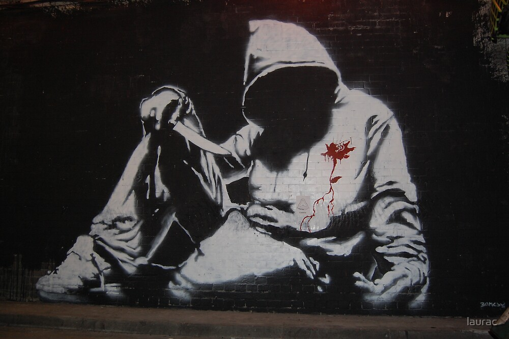 Cans art festival. Banksy. by laurac