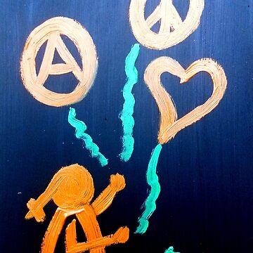 ...skynotes for freedom...art by Jutta Gabriel... von healingcolors