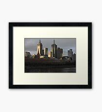 Postcard Metropolis  Framed Print