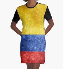 Flag of Colombia Graphic T-Shirt Dress