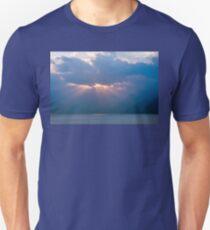 Sun beams at Sunset on Lake Atitlan, Guatemala T-Shirt