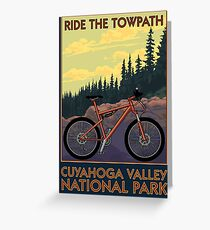 Cuyahoga Valley National Park Vintage Travel Decal -Towpath Trail Greeting Card