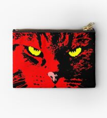 ANGRY CAT POP ART - RED YELLOW BLACK Studio Pouch