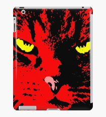ANGRY CAT POP ART - RED YELLOW BLACK iPad Case/Skin
