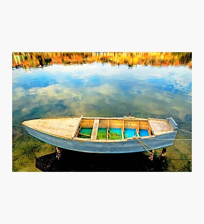 Boat on lake Photographic Print