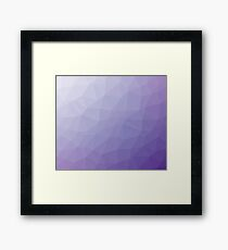 Lavender Triangles Framed Print