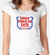 Future Fittest on Earth Women's Fitted Scoop T-Shirt