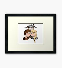 Hiccstrid and Tuffnut  Framed Print