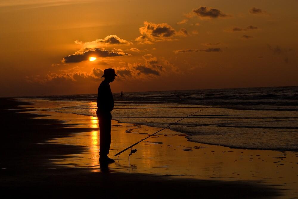 Early Morning Fisherman by BigRPhoto